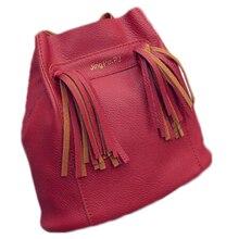 Лидер продаж; Новинка Для женщин PU leathercrossbody Сумки для Для женщин сумки кисточкой модные дизайнерские красные ведро Винтаж Сумки на плечо Для женщин