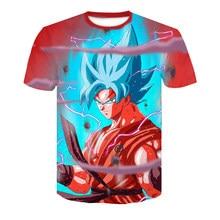 3b6cf0367 2018 Novo Anime Japonês Camisetas Mulheres Homens Dragon Ball Z Saiyan  Camiseta Menino Menina Dos Desenhos Animados de Impressão.