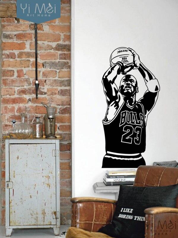Papier peint décoratif pour la maison le succès-de-michael-jordan vinyle 3d stickers muraux chambre salon décor à la maison 50*105 CM papier peint