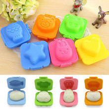 6 Pcs/Set New Boiled Egg Rice Sushi Mold Bento Maker Sandwich Cutter Decorating Mould Mold Kitchen Tools New Arrival