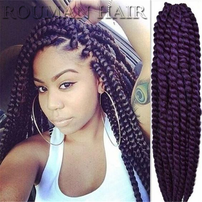 Kinky mali twist crochet hair extensions soft afro kinky for Crochet braids salon