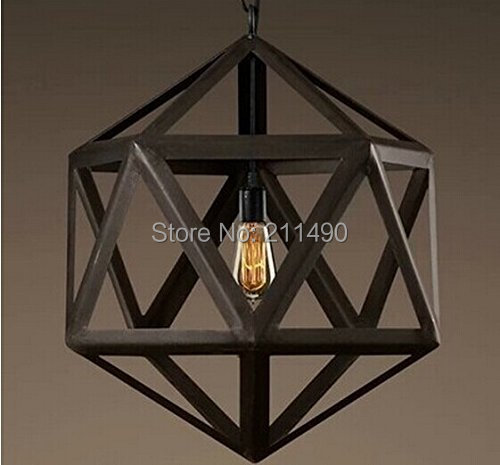 Vintage Barn Metal Pendant Light Max 60W Bulb Included Painted Finish