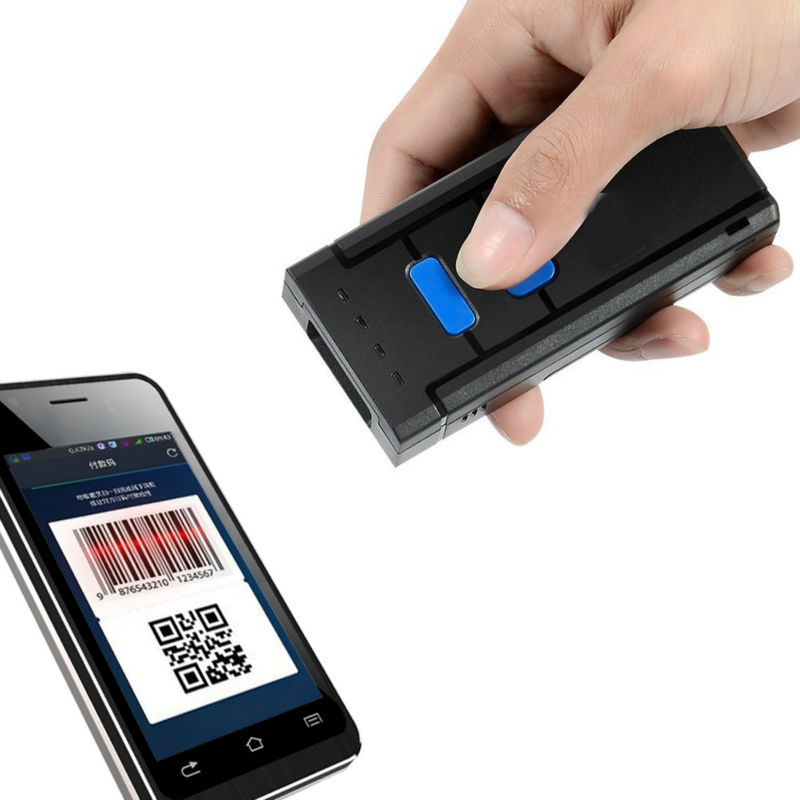 цена 1D Laser Wireless Bluetooth Barcode Scanner for Apple IOS Android