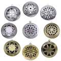 10pcs Mix Round Antique Vintage Memory Photo Pendant Aromatherapy Lockets Essential Oil Diffuser Lockets For Perfume DIY Jewelry