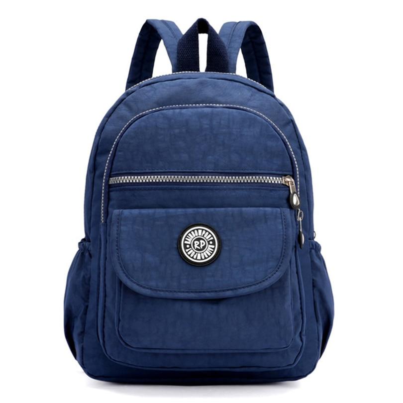 Fashion Small Backpack Mini Casual Women Nylon Backpack For Teenage Girls Bolsa Mochila Feminina Waterproof Women Bagpack