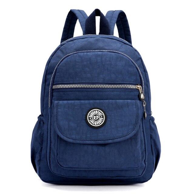 beb55c31f3b3 Модный маленький рюкзак мини Повседневный Женский нейлоновый рюкзак для  девочек-подростков сумка рюкзак Feminina водостойкий