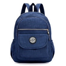 Mini Casual Women Nylon Backpack Mote Små Ryggsekk for Teenage Girls Bolsa Mochila Feminina Vanntette Women Bagpack