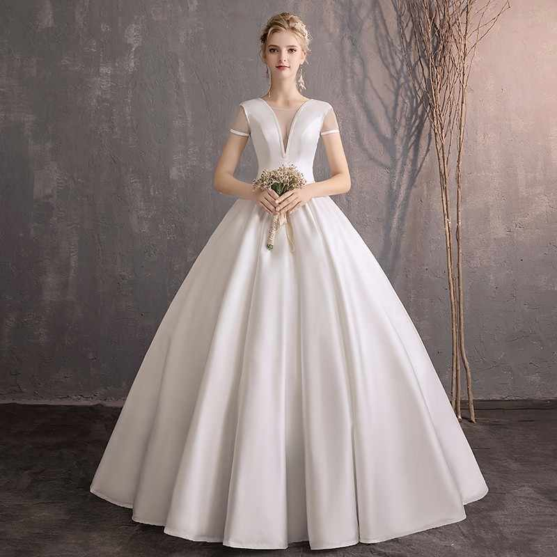 Simple Wedding Dress with Pockets
