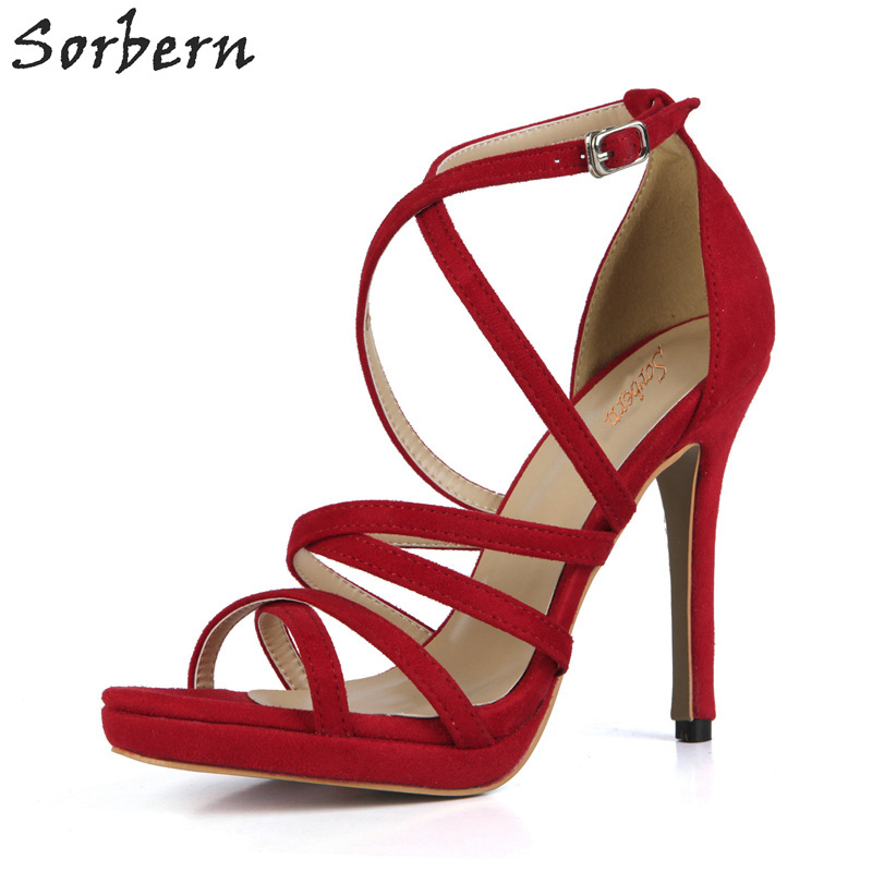 Sorbern Fashion Women Sandals 2018 Open Toe High Heels Dress Shoes Stiletto Heel Summer Sandals Ladies Shoes Custom Colors 2017 summer women sexy gold chains strappy open toe stiletto heel nightclub party high heel sandals dress shoes ladies