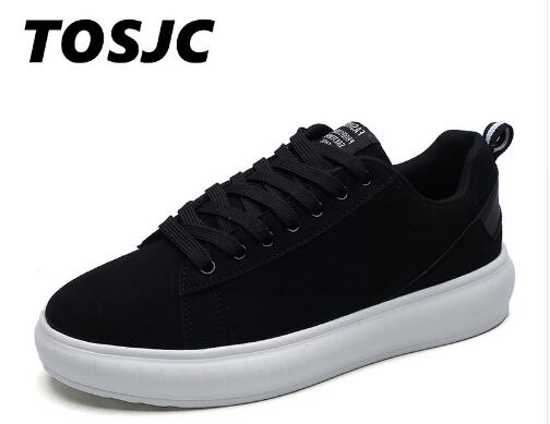 TOSJC 2018 Spring Men Canvas Shoes Lace Up Style Breathable LowTop Fashion Trend Student Youth Vulacanize