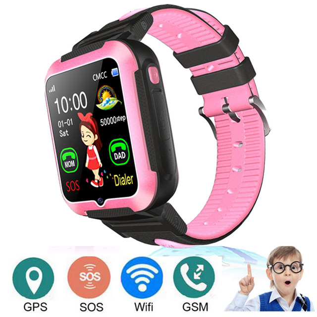 E7 Touch Screen Smart Watch Top GPS Phone Positioning Fashion Children Watch SOS