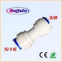 25 CÁI Buffalo 5/16 inch Ống để 3/8 inch Ống đẩy fit straight quick connect RO hệ thống nước kết nối Phụ Kiện
