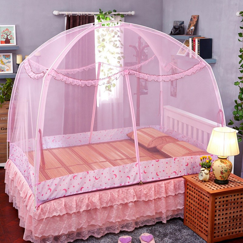 alta calidad princesa mosquitera cama carpa dosel dosel tienda plegable yurta mongol mongol mosquitera cama king