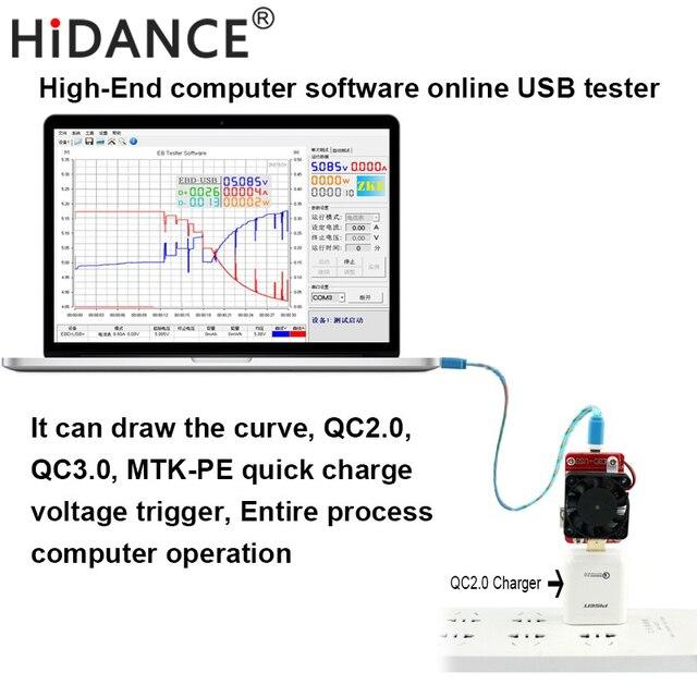 High end computer software online USB tester USB Discharging Load ...