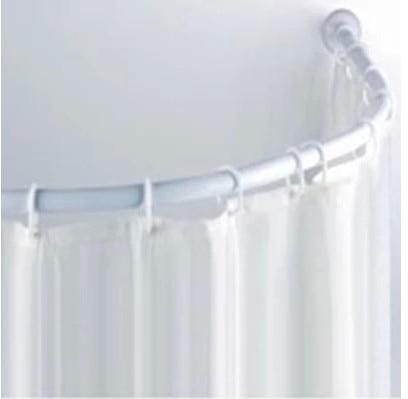 Curved shower rod paint aluminum struts 90 * 90CM bathroom corner L ...