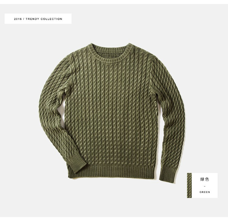 Aolamegs Men Sweater Fashion Casual Solid Color Knitting Pullover 2016 Autumn High Quality Simple Wild O-Neck Knitted Sweaters (10)
