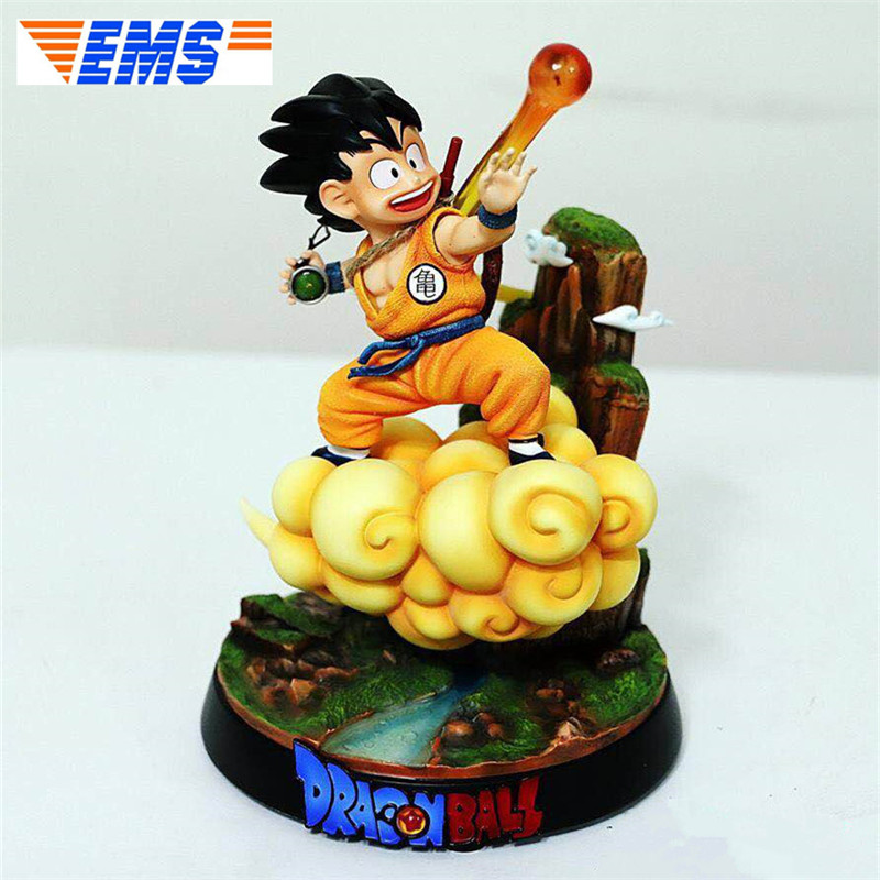 Statue Dragon Ball Childhood Goku NO.02O Open Cirrus Limit Customize Resin Action Figure Collectible Model Toy 25 CM BOX P486 image