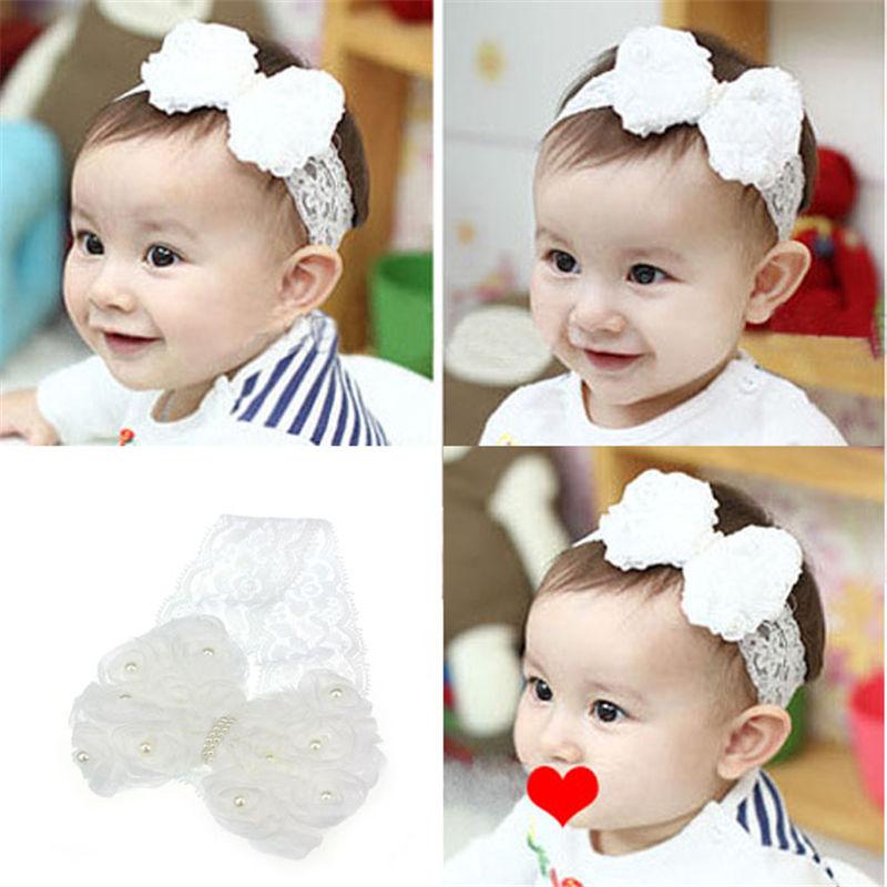 1PC Kids Girls Baby Headband Toddler Bow Flower Hair Band Accessories HeadwearVN
