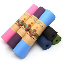 6MM TPE Non-slip Yoga Mats For Fitness Tasteless Brand Pilates Mat Gym Exercise Sport Mats Pads