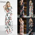 2018 Summer Long Dress Floral Print Boho Beach Dress Tunic Maxi Dress Women's Clothes Plus-size Dress Sundress Vestidos de festa