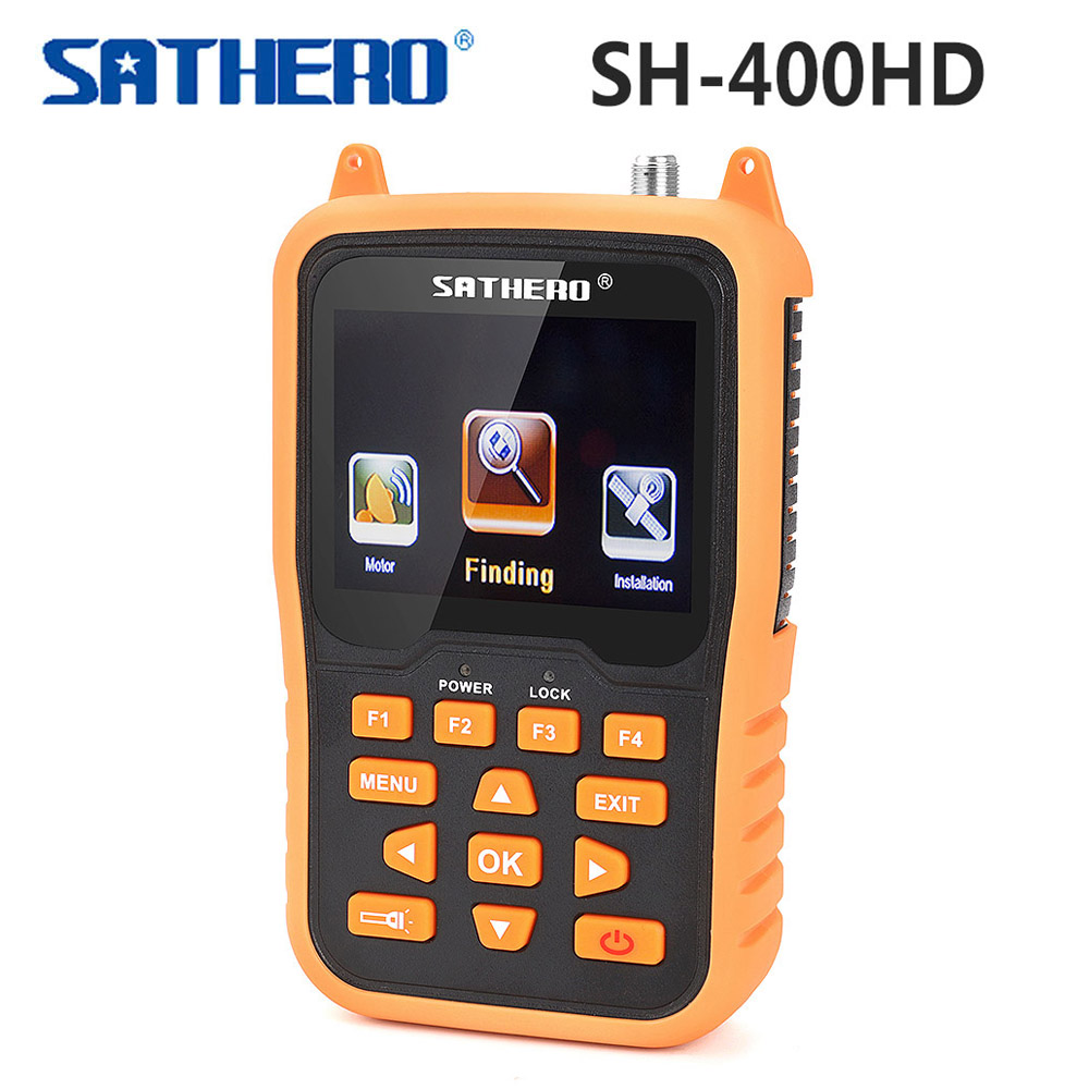 Sathero SH-400HD Digital Satellite Finder DVB-S2 DVB-S Satfinder 3.5 inch LCD Screen Support 8PSK 16APSK DVB S2 Sat Meter 400HD предупреждающие индикаторы fs 16pcs s2 fe s ignal s2 iight imidator
