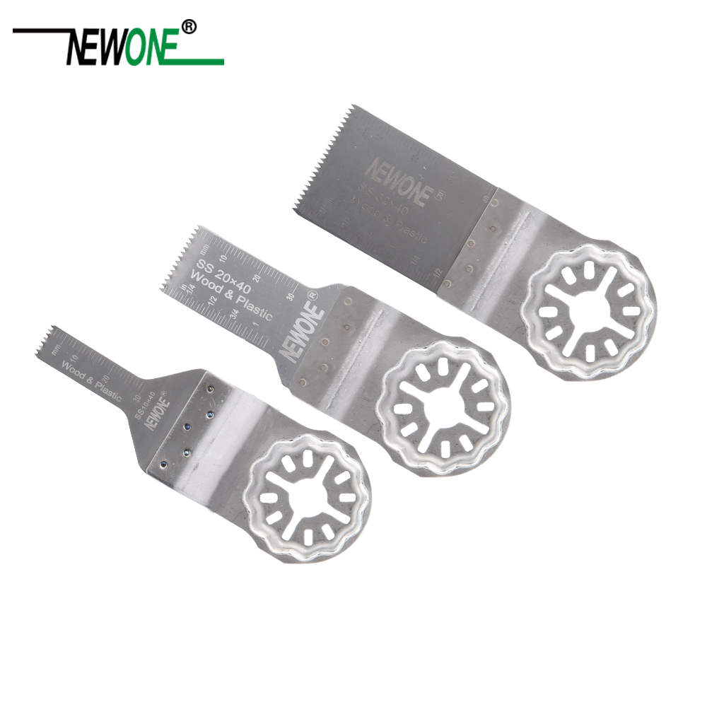 NEWONE Stainless Steel Flush Cut Blades Oscillating Saw Blades Compatible With Oscillating Multi-Tools Using Starlock System