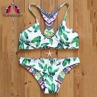 Topmelon badpak bikini micro mini bikini badmode vrouwen 2017 push up sexy driehoek beachwear badpak braziliaanse bikini biquini