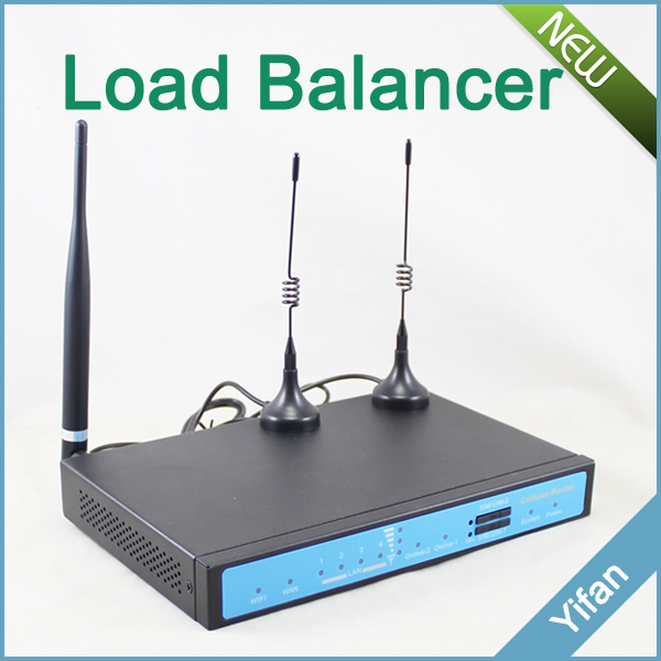support VPN Load balancer YF360D-LL active/active 4G dual sim dual module LTE router for Kiosk, Vehicle free shipping support load balance dual sim 3g router for industrial m2m application