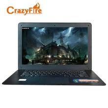 CrazyFire 14 дюймов ноутбук 4 ГБ оперативной памяти и 128 ГБ SSD с Celeron J1900 Quad Core ноутбук Wi-Fi мини HDMI Windows 10 Pro ноутбуки