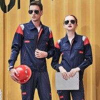 Men Women Workwear Suit Long Sleeve Working Cloth Wear resistant Overalls For Repairman Machine Auto Repair Electric Welding