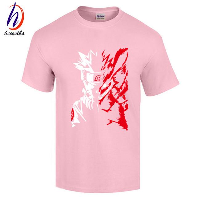 Naruto Logo Pattern Mens Short Sleeve T Shirt
