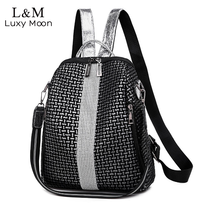 Women Backpacks Simple Travel Backpack Fashion Zipper Shoulder Bags Leather Bagpack Light Lady School Bag Mochila Mujer XA448H