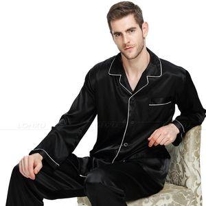 Image 3 - Mens Silk  Satin Pajamas Set  Pajama Pyjamas Set  Sleepwear  Loungewear  S,M,L,XL,XXL,XXXL,4XL Plus Size__Big and tall