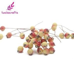 Image 3 - Lucia crafts 50pcs/lot Mini Fake Fruit Berries Artificial Pomegranate Cherry Stamen Wedding Home Christmas Decorative A0601