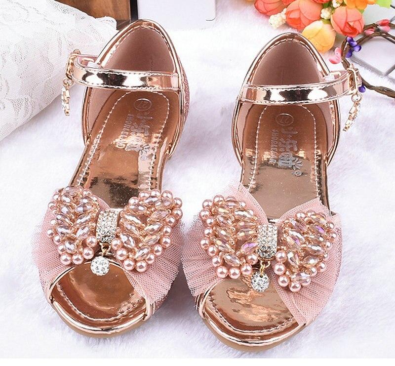 Heet verkoop zomer kinderen meisjes prinses sandalen bowtie partij - Kinderschoenen - Foto 4