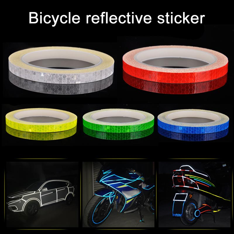 <font><b>Bike</b></font> Bicycle Reflective Stickers and <font><b>Decals</b></font> Adhesive Tape Sticker Wheel <font><b>Frame</b></font> Outdoor Night Cycling Security Warning Accessories image