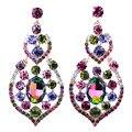 Top Quality Luxury Austrian Crystal Bridal Drop Earrings for Women Gifts Gold Plated Elegant Dangle Long Earrings