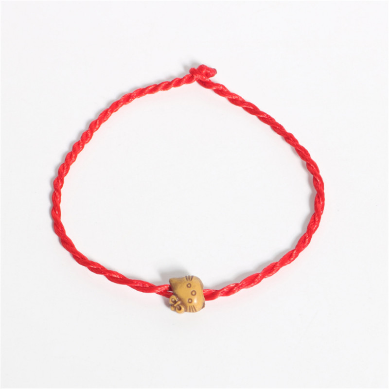 Sale 2018 1PC Fashion Red Thread String Bracelet Lucky Heart Cat Fish Handmade Rope Bracelet for Women Men Jewelry Lover Couple