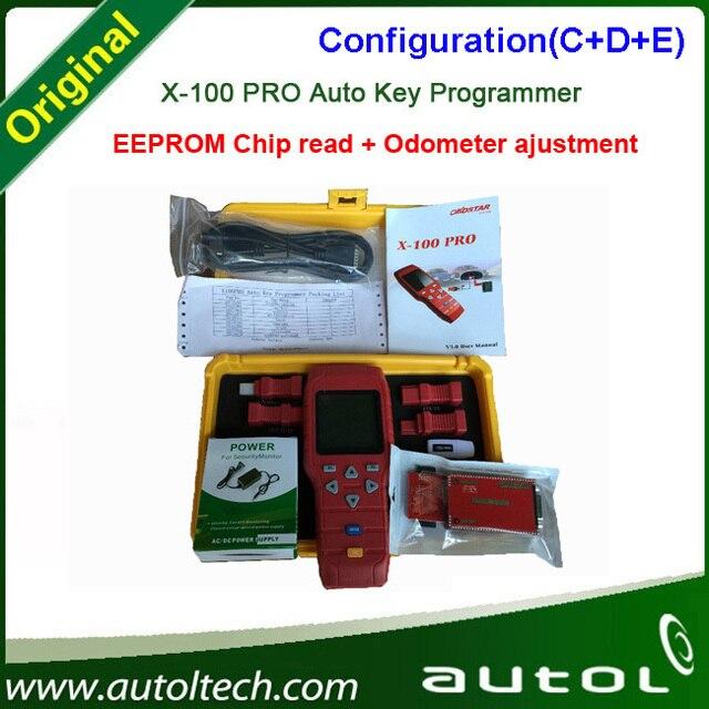 OBDSTAR X-100 X100 PRO Pro Auto Clave Programador C + D + E Tipo para IMMO y ODOMETERand Software DAB función con EEPROM