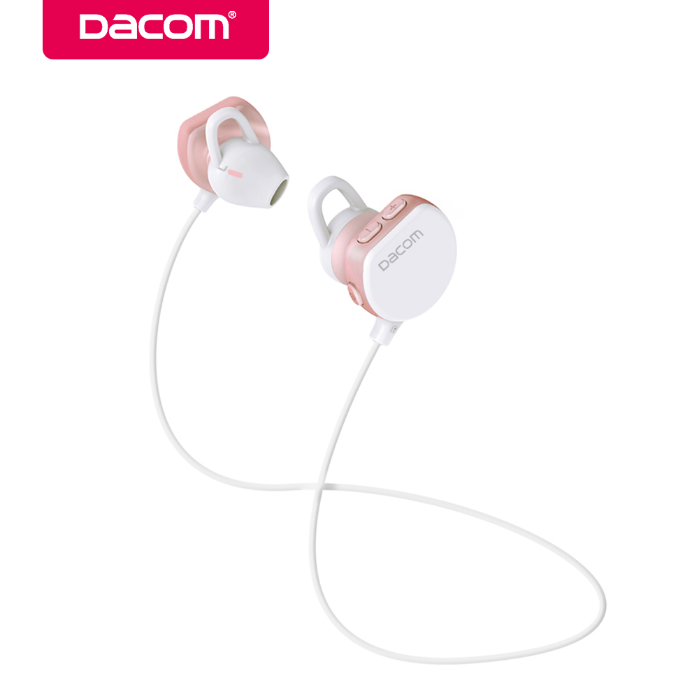 Dacom GF7 bluetooth wireless stereo headset hands-free earphone sport 4.1 music earbuds earpiece for iPhone Samsung girls woman new dacom carkit mini bluetooth headset wireless earphone mic with usb car charger for iphone airpods android huawei smartphone