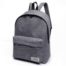 2017 Brand Canvas Men Women Backpack College Students High Middle School Bags Fo