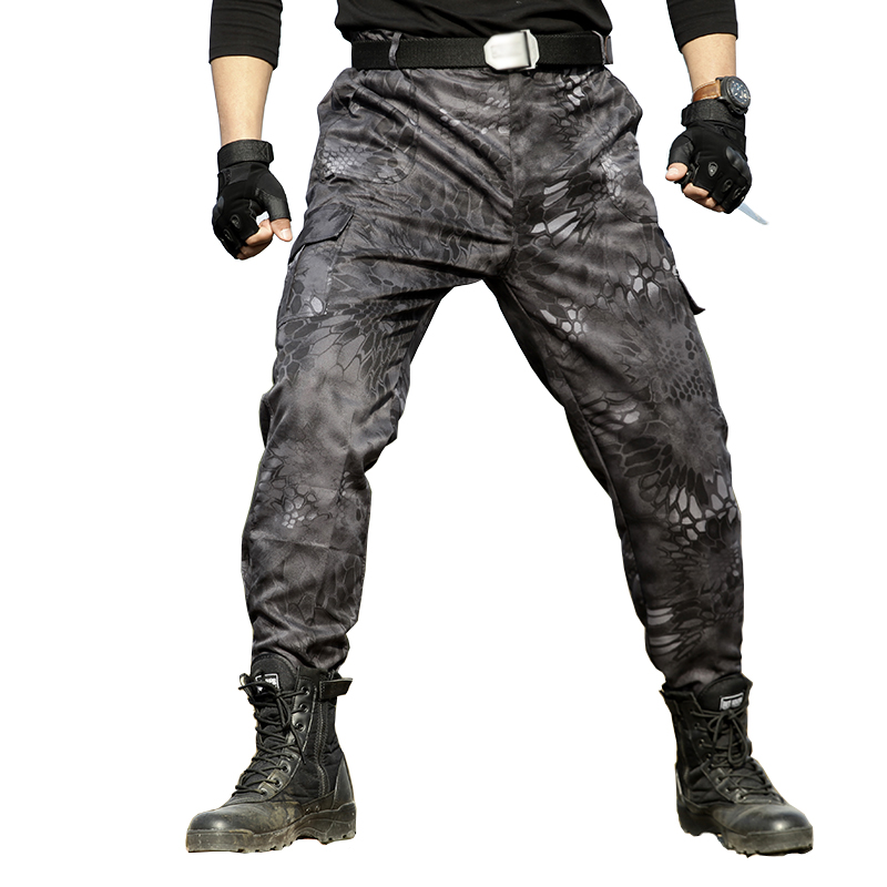 Military Black Python Combat Army Cargo Pants High Quality