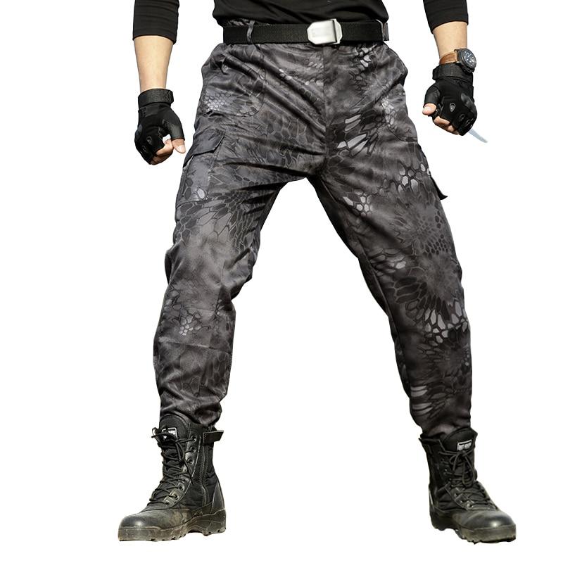 Military Black Python Combat Army Cargo Pants High Quality Working Harem Pant Mens Tactical Men Jogger Pantalon Homme Sweatpants
