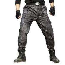 Tactical Cargo Pants Men Military Black Python Caouflage Combat Pants