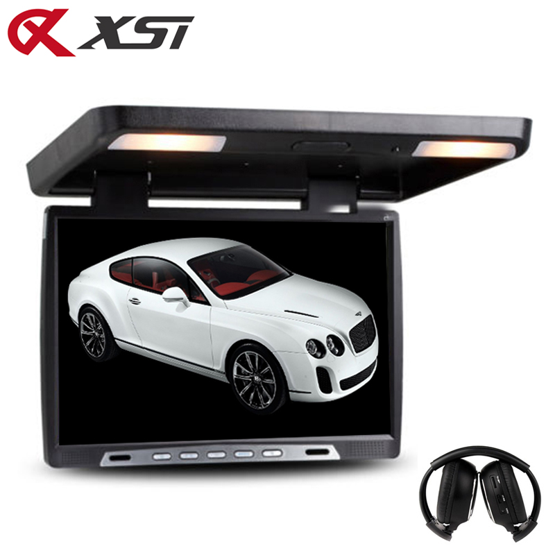 XST 19 Inch Car Flip Down 1680x1050 TFT LCD Monitor Roof Mount Player IR Transmitter Adjustable