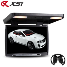 XST 19 Inch Car Flip Down 1680×1050 TFT LCD Monitor Roof Mount Player IR Transmitter Adjustable View Screen Dome LED Light