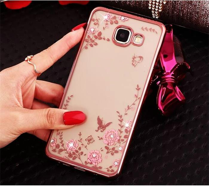 Case For Samsung Galaxy A5 2017 A520 Original Rose Gold TPU Coque Cover Silicon Silicone Clear Soft Diamond Phone Accessories