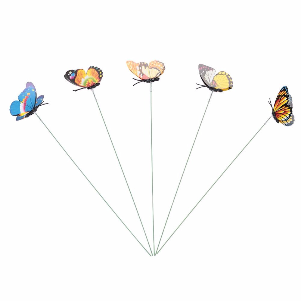 Butterfly Stakes Simulation Schmetterling Hausgarten Pflanzer - Gartenzubehör - Foto 3