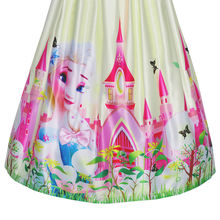 Princess Elsa Castle Butterfly Party Dress