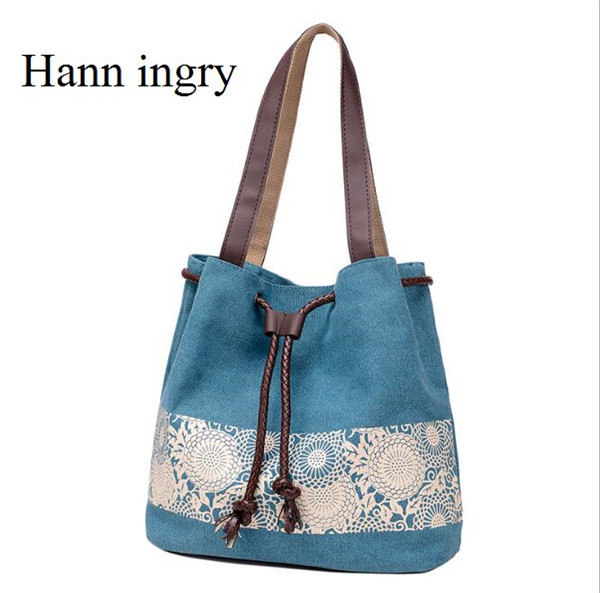 Canvas Bag, Single Shoulder Handbag Bag, Traditional Style Large-Capacity Waterproof Pack H60D